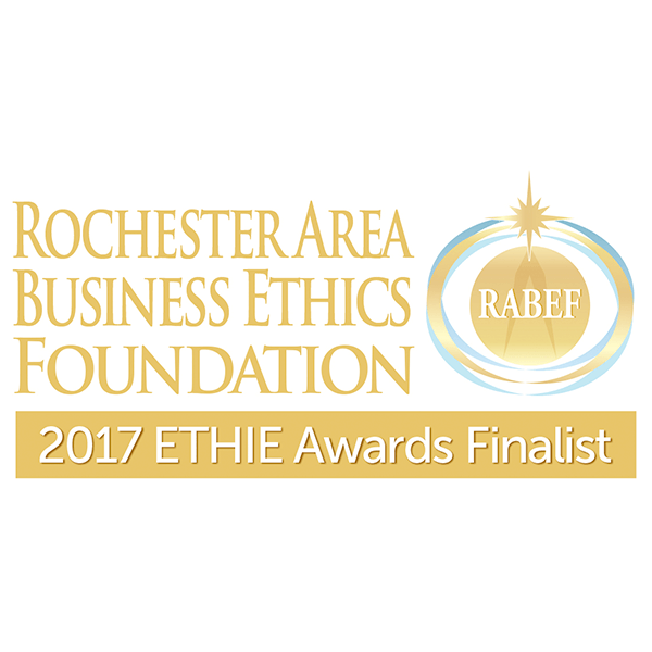 Rochester Area Business Ethics Foundation - 2017 ETHIE Awards Finalist